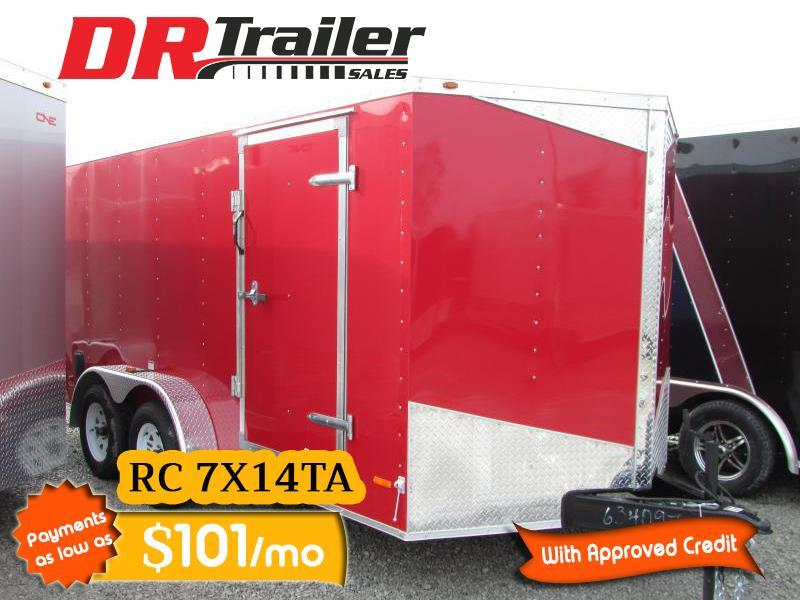2020 RC Trailers 7 x 14 V Nose Ramp Door Enclosed Cargo Trailer