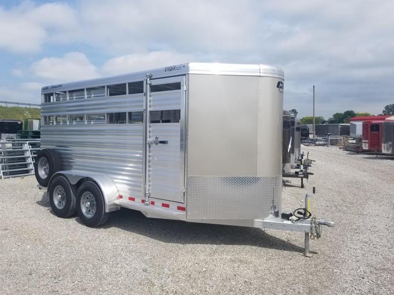 2019 CM 16 ft Aluminum Livestock Trailer