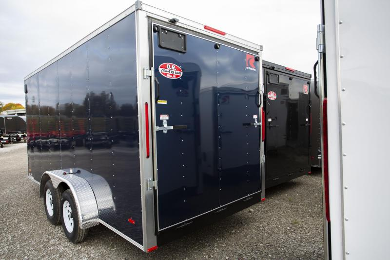 2020 RC Trailers 7 x 16 12 in Ramp Door Enclosed Cargo Trailer