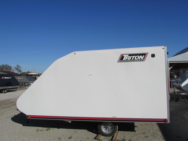 2019 Triton Trailers TC 12' Hybrid Snowmobile Trailer W/Cover
