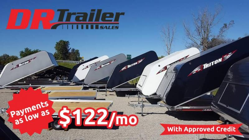 2019 Triton 12 ft Tilt Snowmobile Trailer