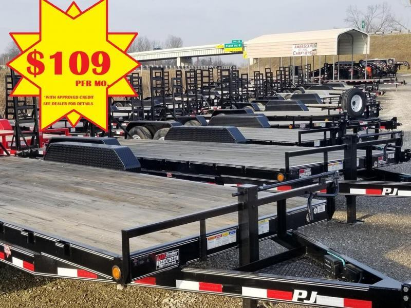 2019 PJ Trailers 20 Equipment Flatbed Trailer *DR TRAILER #1*