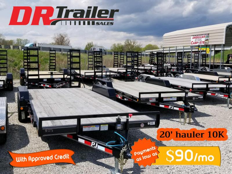 2019 PJ Trailers 20 ft 10k gvwr Equipment Trailer