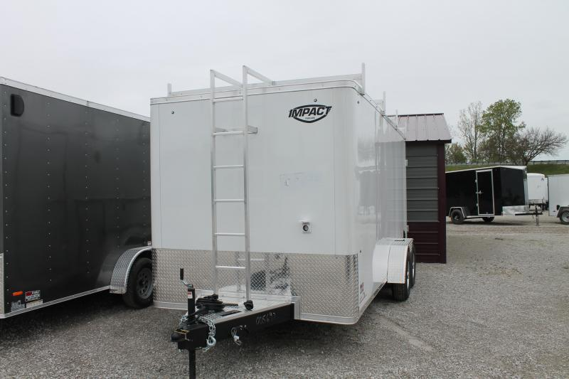 2021 Impact Trailers 7'X16' CONTRACTOR TRAILER Enclosed Cargo Trailer