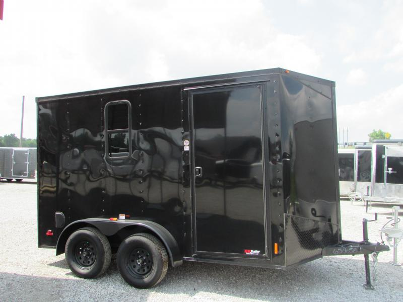 2019 RC Trailers 7 x 12 Black Out Enclosed Cargo Trailer