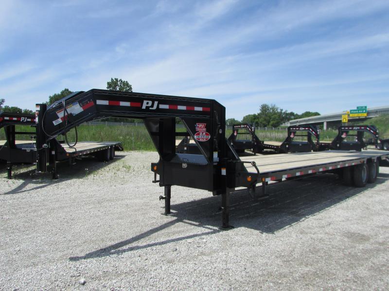 PJ Trailers 32 FT Gooseneck Deckover Low Pro Flatbed Trailer