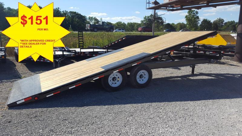 2019 PJ Trailers 22 Equipment Power Tilt Flatbed Trailer