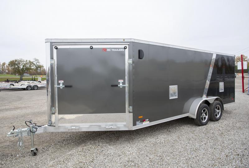 2020 RC Trailers 7 x 23 3-Place Snowmobile Trailer
