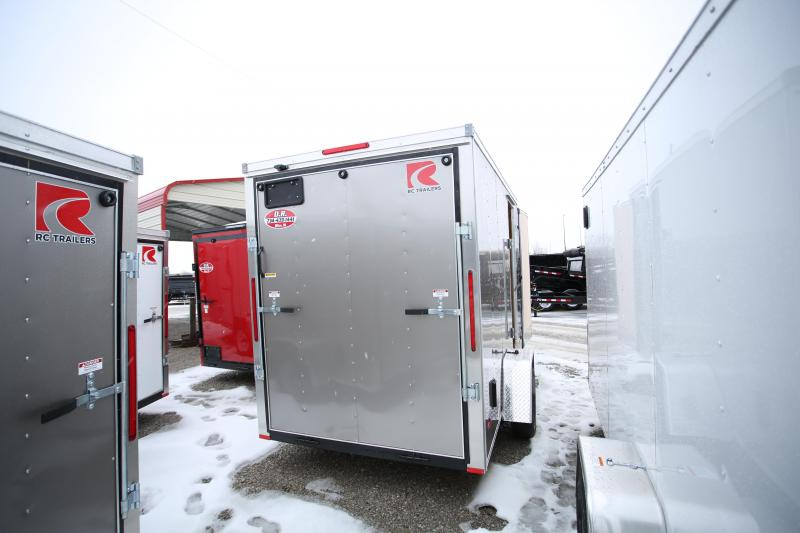 """NEW RC Trailers 6 x 12 + 12"""" Enclosed Cargo Trailer"""