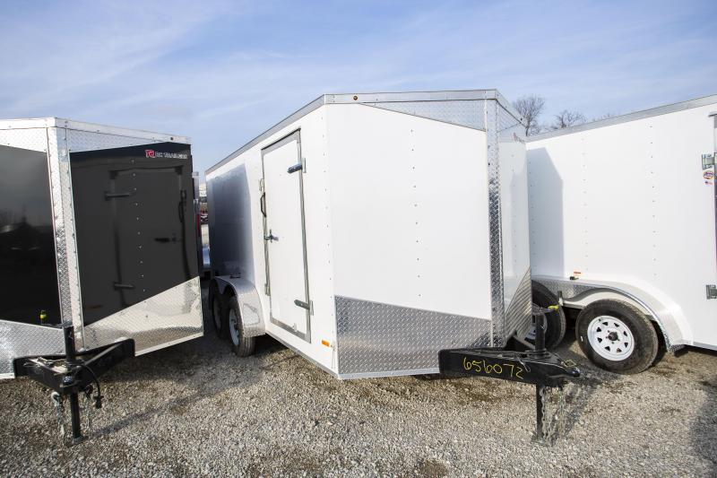 2020 RC Trailers 7 x 14 Ramp Door Tandem Axle Enclosed Cargo Trailer