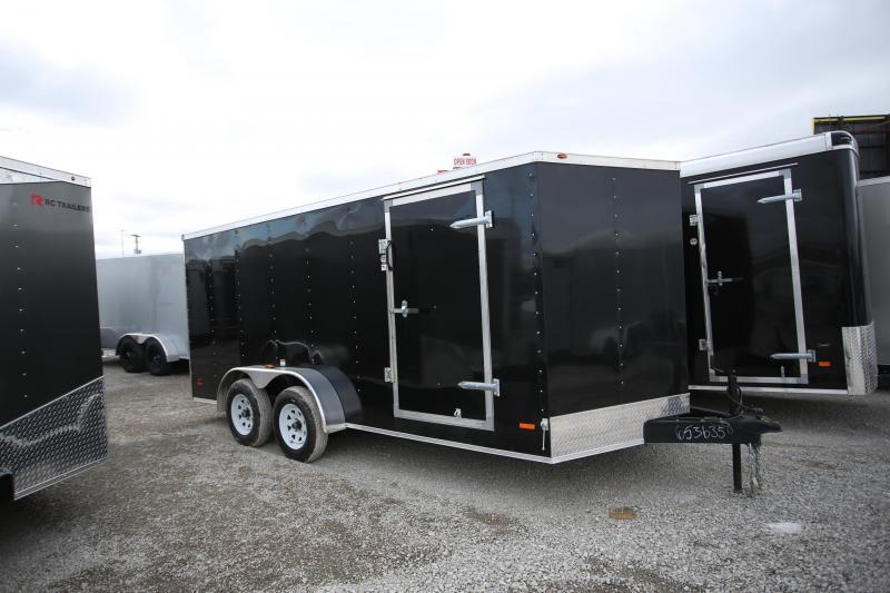 NEW RC Trailers 7 x 16 Ramp Door Enclosed Cargo Trailer