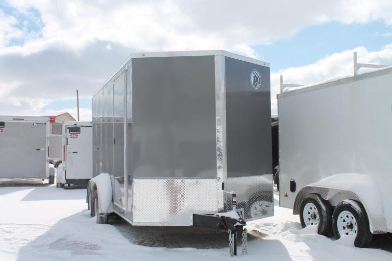 "2020 Darkhorse Cargo 7' x 14' + 12"" RD Enclosed Cargo Trailer"