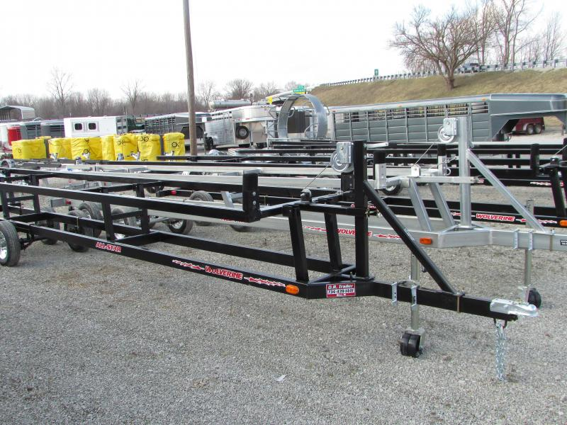 Wolverine Trailers 20 ft Crank Up Pontoon Boat Trailer