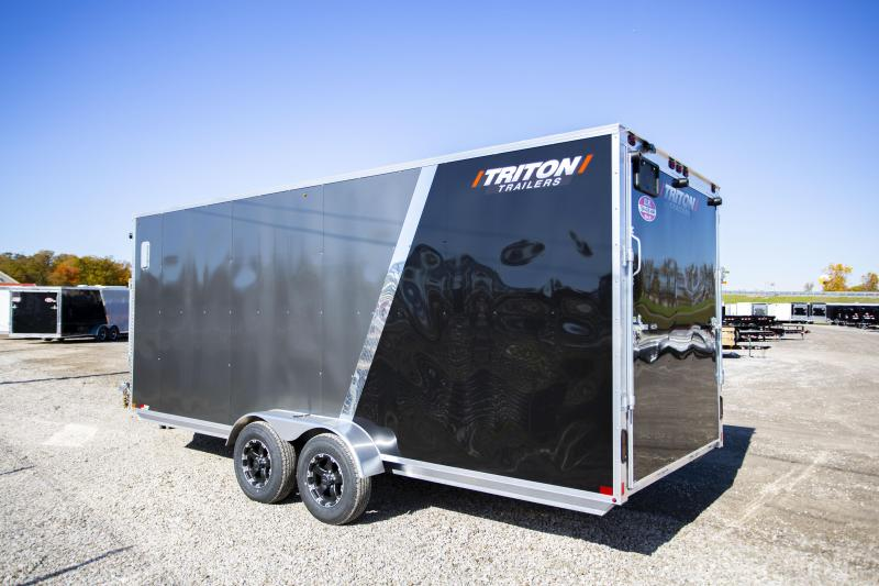 2020 Triton 7x 23 3-place Snowmobile Trailer