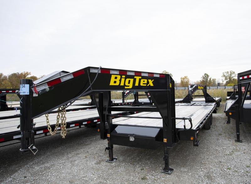 2020 Big Tex Trailers 25 Mega Ramps Gooseneck Flatbed Trailer