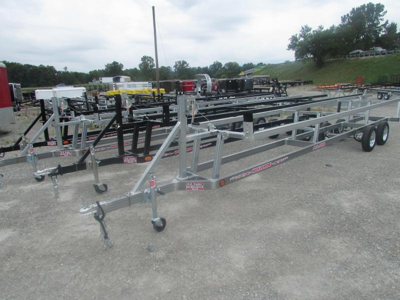 Wolverine Trailers 24 Galvanized Crank Up Pontoon Boat Trailer