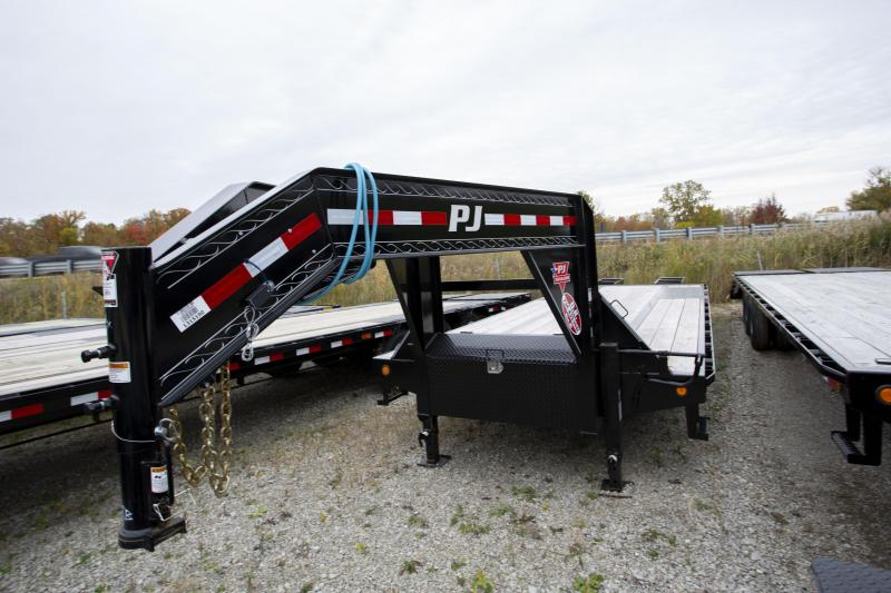 2020 PJ Trailers 28 Heavy Duty Gooseneck Flatbed Trailer