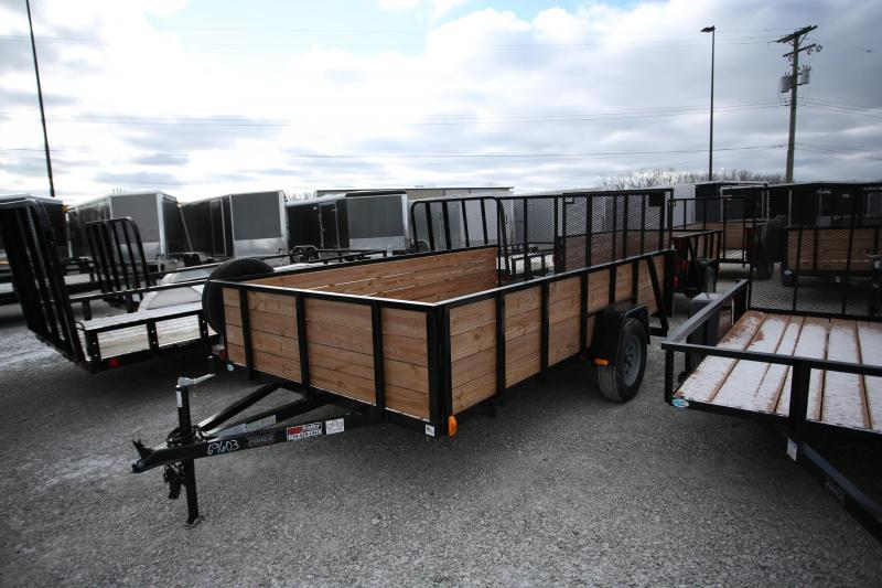 2020 Forest River 6x12 Wood Side Utility Trailer