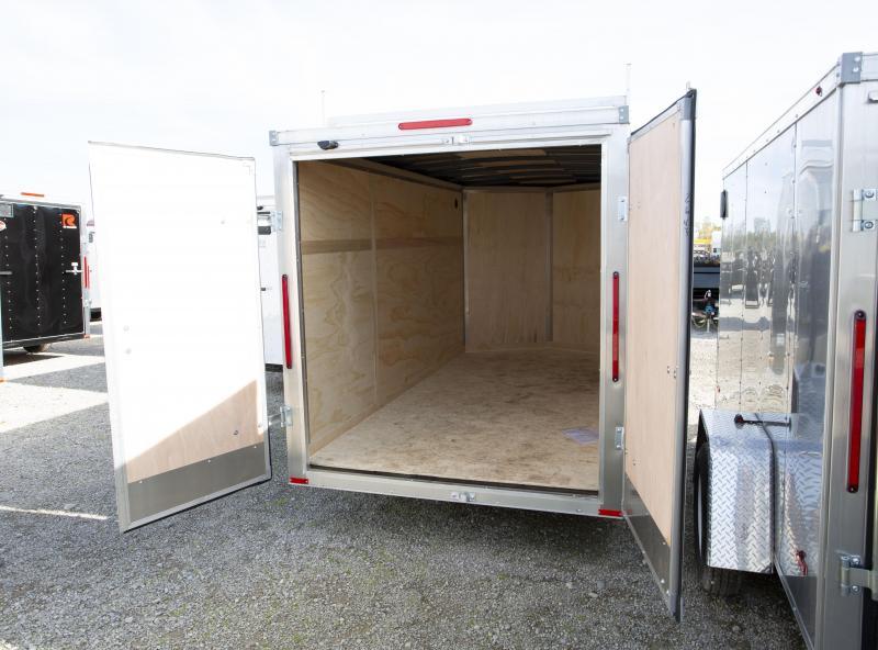 2020 RC Trailers 6 X 12 Double Door w/ Roof Racks Enclosed Cargo Trailer