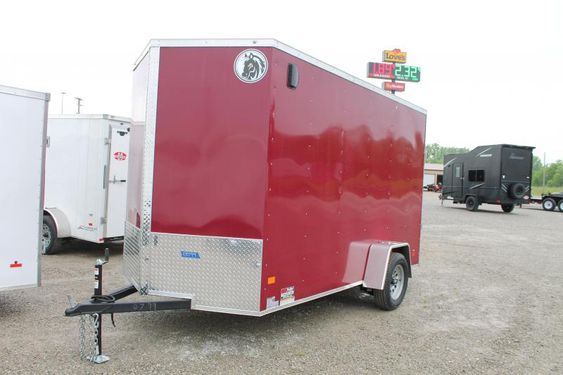 "2020 Darkhorse Cargo 6'X12' + 12"" RD Enclosed Cargo Trailer"