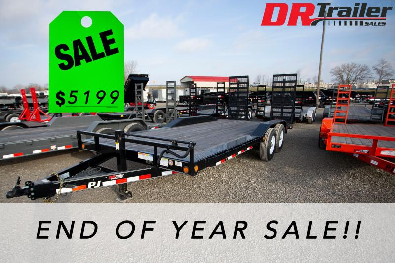 2019 PJ Trailers 20 ft Buggy 14k GVWR Equipment Trailer