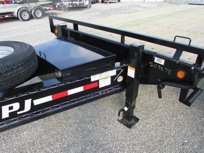 PJ Trailers 25 Equipment w/Monster Ramp Flatbed Trailer