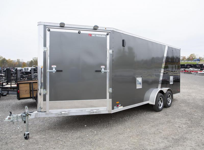 2020 RC Trailers 7 x 23 7ft High 3-Place Snowmobile Trailer