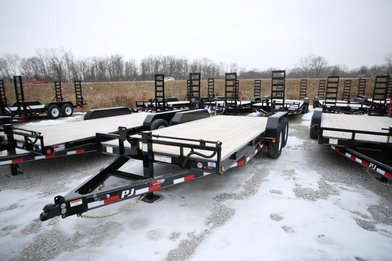 NEW PJ Trailers 18' Fold-Up Ramps Flatbed Trailer