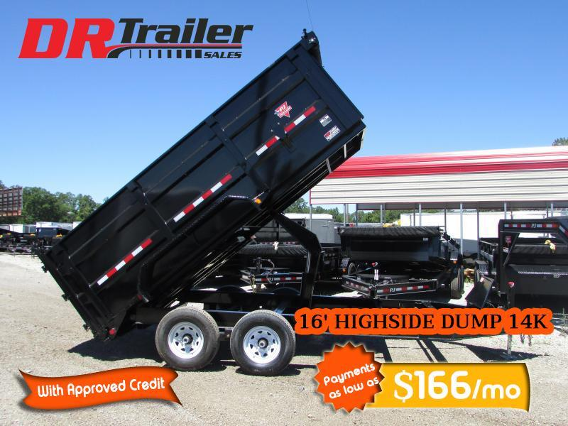 2020 PJ Trailers 16 ft High Side Dump Trailer