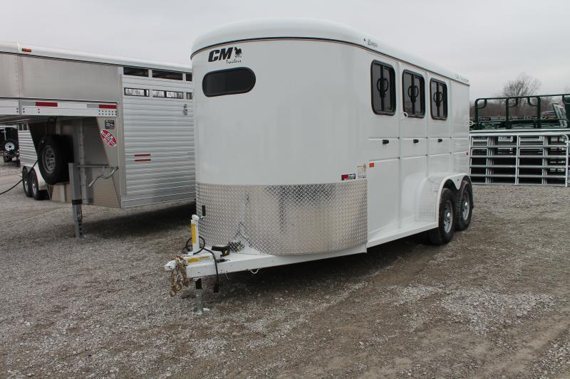2020 C&M 3 Horse Livestock Trailer