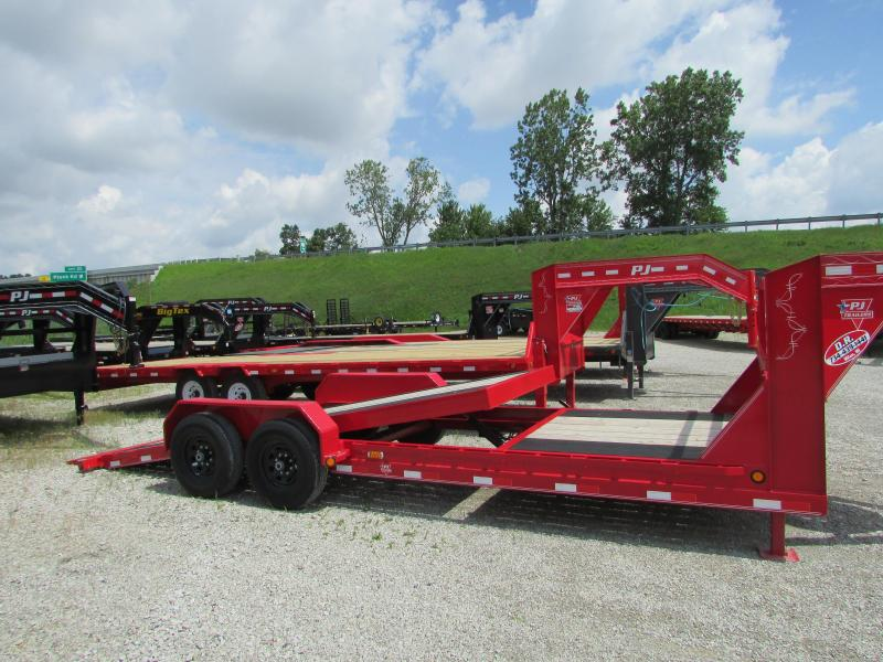 2019 PJ Trailers 22 ft Gooseneck Tilt Equipment Trailer