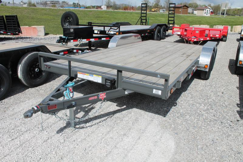 2020 PJ Trailers 18' CAR 7K Flatbed Trailer