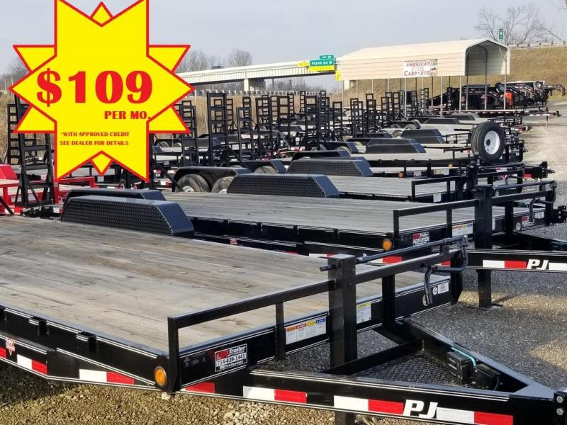 2020 PJ Trailers 20 Equipment Flatbed Trailer *DR TRAILER #1*