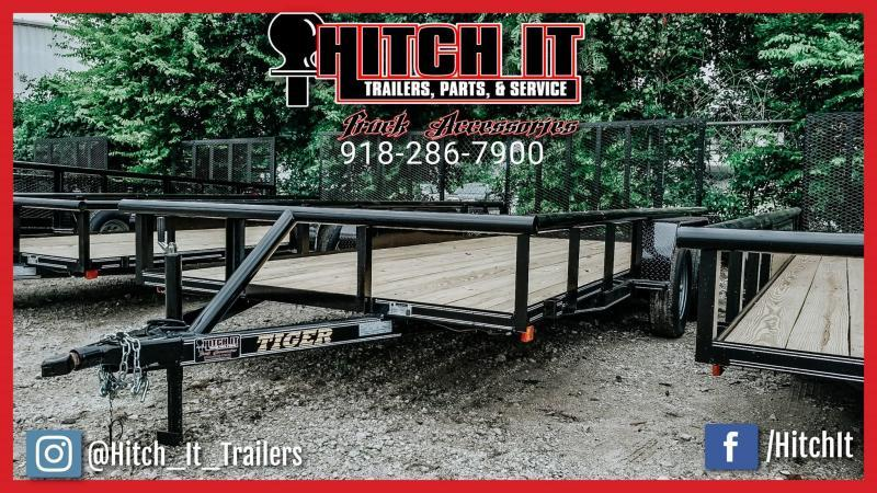 83 x 16 Pipetop Utility Trailer w/ Brakes Tandem 3500#