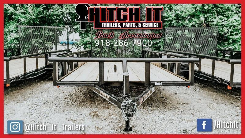 83 x 16 Pipetop Utility Trailer w/ Brakes Tandem 3500#