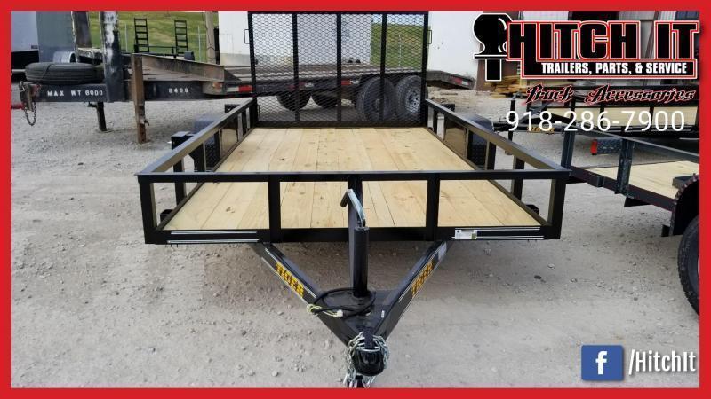 Tiger 77 X 14 Single Axle Utility Trailer w/ Ramp Gate 3500 lb axles
