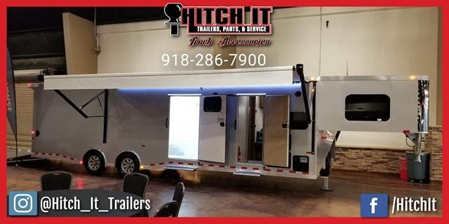 38 ft. Sundowner Gooseneck Toy Hauler Trailers 1786GMW/ 20' GARAGE  @Hitch It Trailers  Tulsa