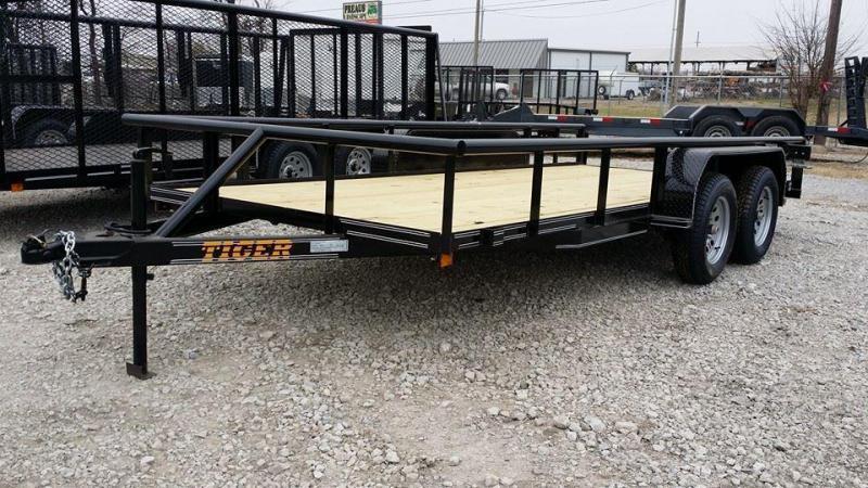77x16 BLACK Pipetop Utility Trailer Slide In Ramps