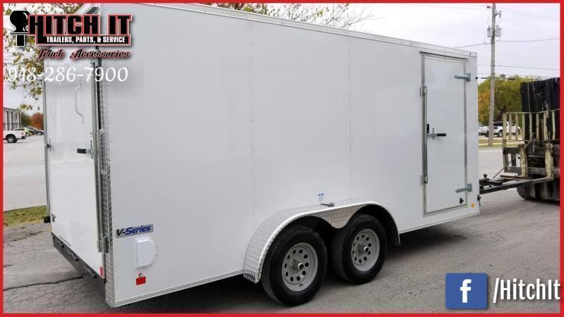 2020 Continental Cargo 7 x 18 + v-nose  Enclosed Cargo Trailer