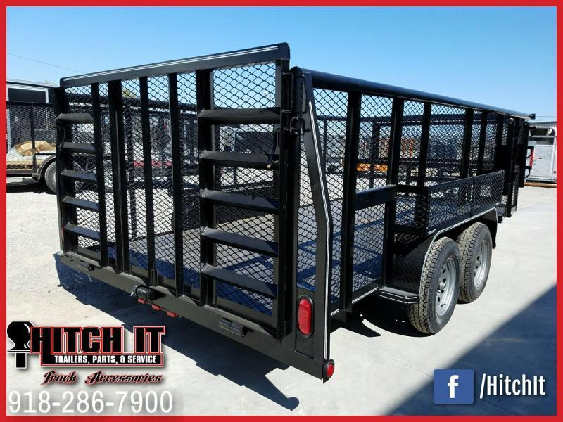 83 x 16 Landscape Trailer  --HD TRACTOR GATE--