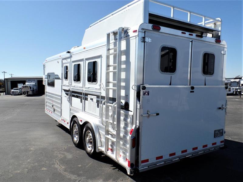 2012 4-Star Trailers 3H Trailer w/ 8' Short Wall LQ Horse Trailer