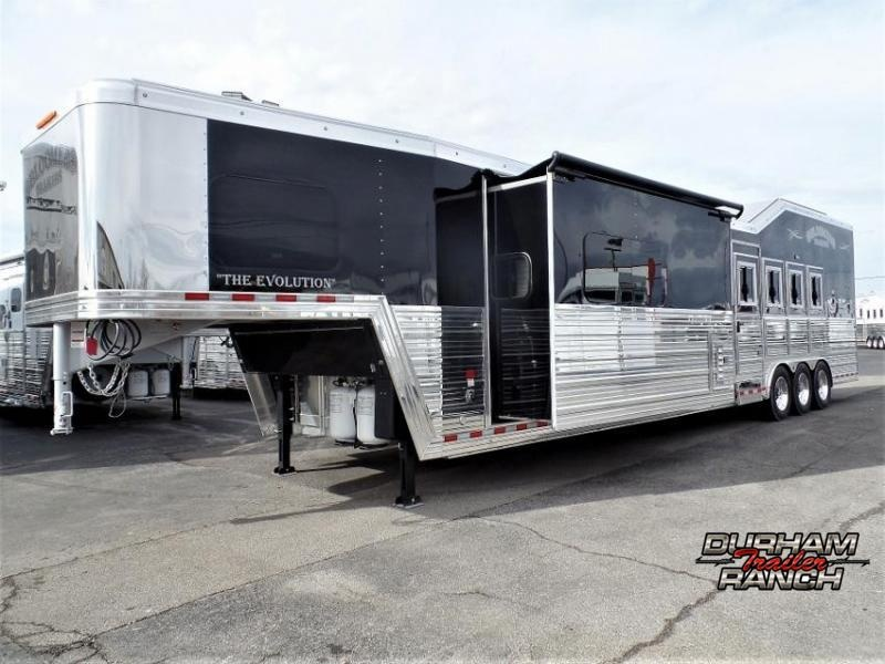 2020 Bloomer 4H PC Load with 18ft S.W. & 10ft Hyd. Slide Horse Trailer