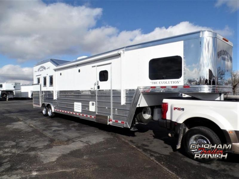 "2020 Bloomer 3Horse PC Load w/ 14'9"" SW & 6' Hyd. Slide Horse Trailer"