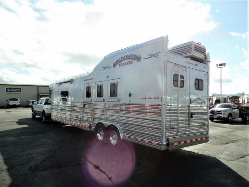 "2020 Bloomer 3Horse PC Load w/ 14'9"" SW & 6' Hyd. Slide Horse Trailer"