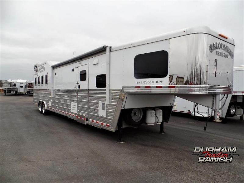 "2015 Bloomer 4 Horse 17'6"" SW w/ 6' Hyd. Slide and Bunk Beds Horse Trailer"