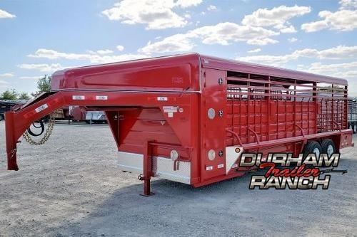 2020 GR Trailers 24ft Gooseneck Stock Trailer Livestock Trailer