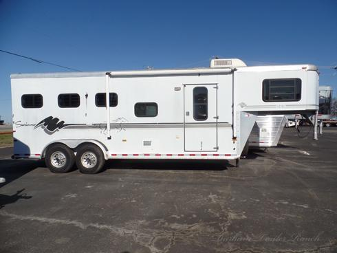 1999 Sundowner Aztec 3 Horse with 6ft Short Wall Horse Trailer