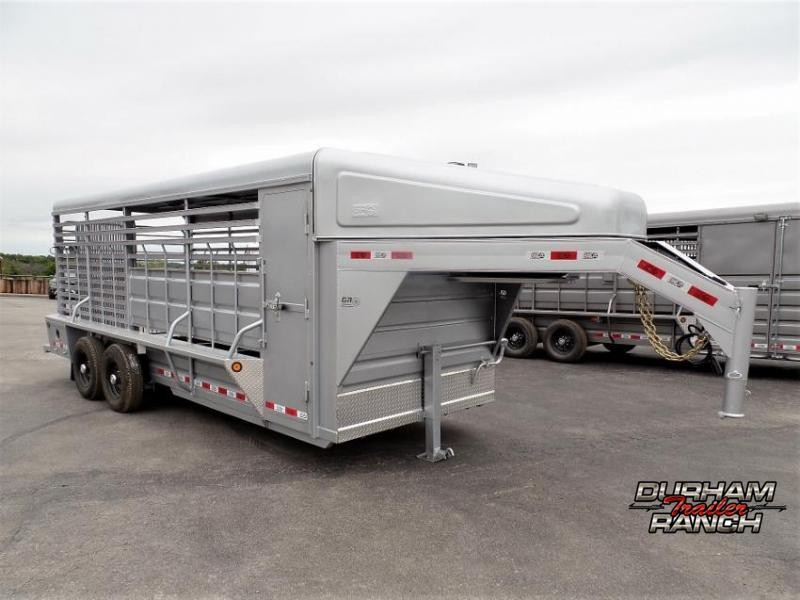 2020 GR Trailers 20' Livestock Trailer w/ Nose and Metal Roof Livestock Trailer