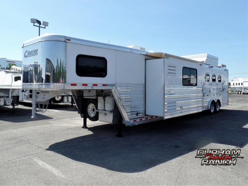 """2012 Cimarron 4H w/ 16'6"""" Short Wall and 9'6"""" Elect. Slide Out Horse Trailer"""