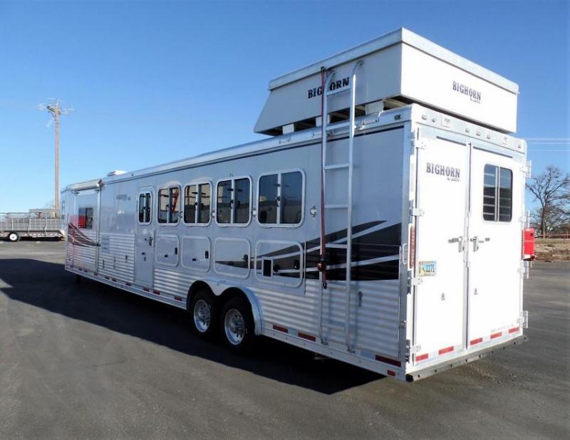 2012 Lakota Bighorn 5H w/ 16.5ft SW and 7ft Elec. Slide Horse Trailer